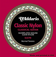 Струны для классической гитары D'Addario EJ27N Normal Tension -
