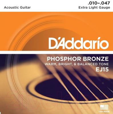 Струны для акустической гитары D'Addario, EJ15