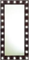 Зеркало Континент 26 ламп 80x165 (шоколадный) -