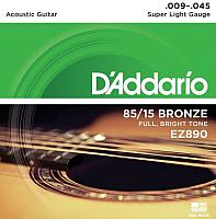 Струны для акустической гитары D'Addario EZ890 Super Light 9-45 -