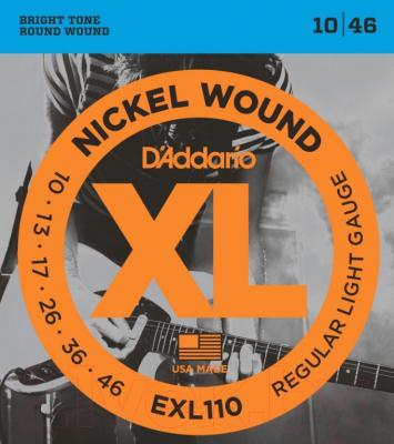 Струны для электрогитары D'Addario EXL110 Regular Light 10-46 (никель)