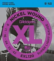 Струны для электрогитары D'Addario EXL120 Super Light 9-42 (никель) -