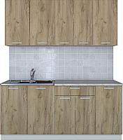 Готовая кухня Интерлиния Мила Лайт 1.8 (дуб золотой) -