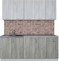 Готовая кухня Интерлиния Мила Лайт 2.0 (дуб белый/дуб серый) -