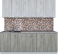 Готовая кухня Интерлиния Мила Лайт 2.2 (дуб белый/дуб серый) -