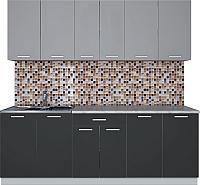 Готовая кухня Интерлиния Мила Лайт 2.2 (серебро/антрацит) -