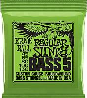 Струны для бас-гитары Ernie Ball 2836 Regular Slinky 5 String Bass 45-130 -