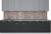Готовая кухня Интерлиния Мила Лайт 3.0 (серебро/антрацит) -