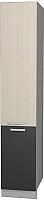 Шкаф-пенал кухонный Интерлиния Мила Лайт НШП-№2-2145 (вудлайн кремовый/антрацит) -