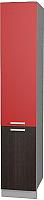 Шкаф-пенал кухонный Интерлиния Мила Лайт НШП-№2-2145 (красный/дуб венге) -