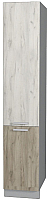 Шкаф-пенал кухонный Интерлиния Мила Лайт НШП-№2-2145 (дуб белый/дуб серый) -