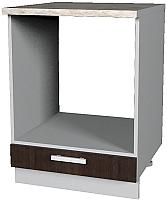 Шкаф под духовку Интерлиния Мила Лайт НШ60д (дуб венге) -