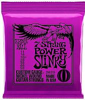 Струны для электрогитары Ernie Ball 2620 Nickel 7 Power Slinky -
