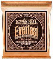 Струны для акустической гитары Ernie Ball 2550 Everlast Phosphor Extra Light Acoustic -