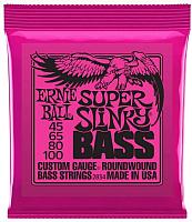 Струны для бас-гитары Ernie Ball 2834 Super Slinky Bass 45-100 -