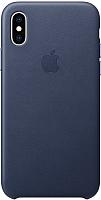 Чехол-накладка Apple Leather Case для iPhone XS Midnight Blue / MRWN2 -