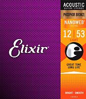 Струны для акустической гитары Elixir Strings 16052 12-53 -