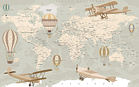Фотообои Citydecor Карта мира на русском (400x254) -