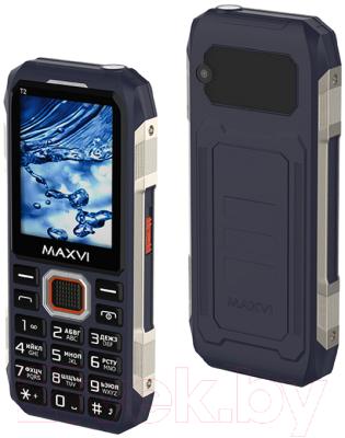 Мобильный телефон Maxvi T2 (синий)