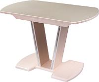 Обеденный стол Домотека Румба ПО 70x110-147 (бежевый/молочный дуб/03) -