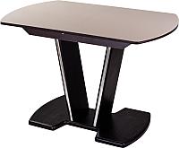 Обеденный стол Домотека Танго ПО 70x110-147 (кремовый/венге/03) -