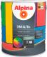 Эмаль Alpina Универсальная (750мл, шоколадный шелковисто-матовый) -
