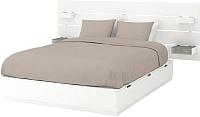 Двуспальная кровать Ikea Нордли 392.972.22 -