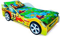 Стилизованная кровать детская Бельмарко Тачка / 513 (желтый) -