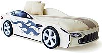 Стилизованная кровать детская Бельмарко Бондмобиль / 557 (белый) -