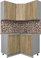 Готовая кухня Интерлиния Мила Лайт 1.2x1.2 (дуб золотой) -