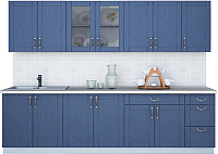 Готовая кухня Интерлиния Мила Крафт 2.8Б (дуб лазурный) -