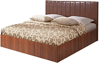 Двуспальная кровать Мебель-Парк Аврора 1 200x160 (темный) -