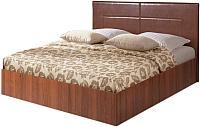Двуспальная кровать Мебель-Парк Аврора 4 200x160 (темный) -