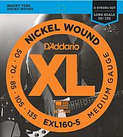 Струны для бас-гитары D'Addario EXL160-5 50-135 -