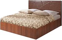 Двуспальная кровать Мебель-Парк Аврора 7 200x160 (темный) -