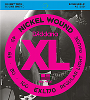 Струны для бас-гитары D'Addario EXL170 45-100 -
