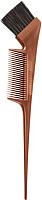 Кисть для окрашивания волос Kapous Из искусственных волокон с расческой / 1185 (бронзовый) -