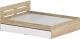 Двуспальная кровать Славянская столица Д-Кр1600 с ящиками (дуб сонома/белый) -