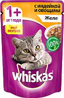 Корм для кошек Whiskas Желе с индейкой и овощами (85г) -