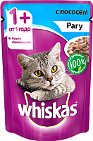 Корм для кошек Whiskas Рагу с лососем (85г) -