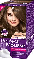 Краска-мусс для волос Perfect Mousse Nude Стойкая 746 (натуральный русый) -
