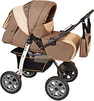 Детская универсальная коляска Smile Line Alf I (Al 01, темно-бежевый/светло-бежевый) -