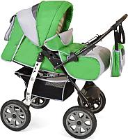 Детская универсальная коляска Smile Line Alf I (Al 03, зеленый/светло-серый) -