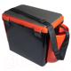 Ящик рыболовный Helios FishBox односекционный (19л, черный/оранжевый) -