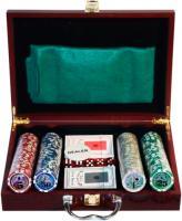 Набор для покера No Brand 6642-S1 (в чемодане, 200 фишек) -