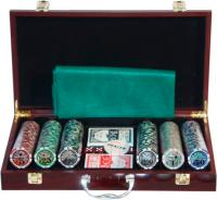 Набор для покера No Brand 6643-B1 (в чемодане, 300 фишек) -