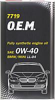 Моторное масло Mannol OEM 0W40 / MN7719-4ME (4л) -