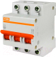 Выключатель автоматический TDM ВА 47-100 3Р 80А (C) 10кА / SQ0207-0076 -