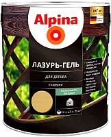 Защитно-декоративный состав Alpina Лазурь-гель (2.5л, сосна) -