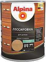 Защитно-декоративный состав Alpina Лессировка (750мл, кедр) -